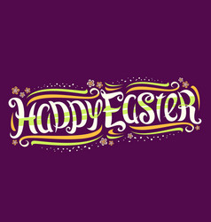 greeting card for easter holiday vector image