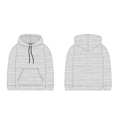 Hoodie for children on white background vector