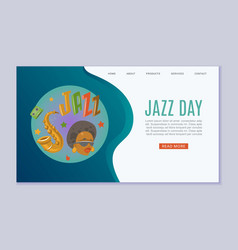Jazz day festival and music party vector