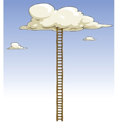Ladder to the clouds vector