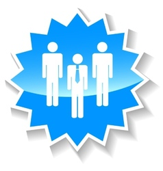 Leader blue icon vector