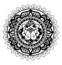 lotus mandala vector image
