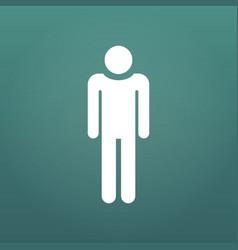 man icon design element for presentations vector image