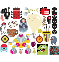 Mix of different images vol64 vector image