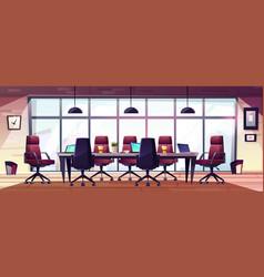 Modern business office meeting room cartoon vector