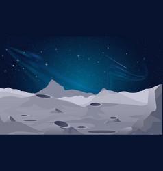 moon landscape background vector image