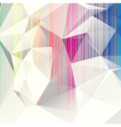 multicolored abstract background of triangles vector image