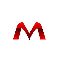 mv letter logo vector image