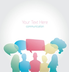 People communicating social media vector