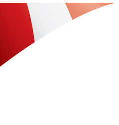 peru flag on a white vector image