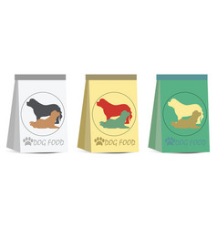 Pet dog food bag sign simple icon vector