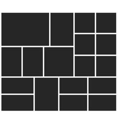 Poster frame mockup vector