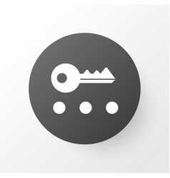 Privacy icon symbol premium quality isolated key vector