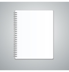 Realistic Note Template Blank vector