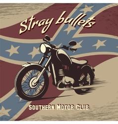 Retro motorcycle club poster vector image