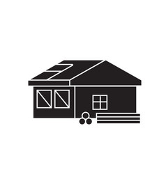 roofing construction black concept icon vector image