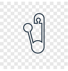 safety pin concept linear icon isolated on vector image