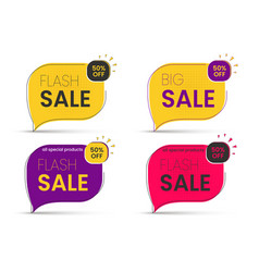 sale banner big discounts sticker 50 vector image