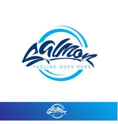 salmon wordmark vector image