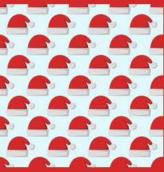 Santa claus fashion red hat modern seamless vector