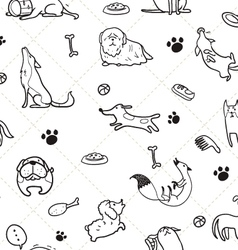 Seamless Dogs pattern C vector