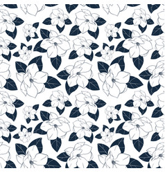 seamless floral pattern with magnolia vector image