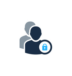 security user logo icon design vector image