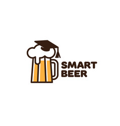 smart beer logo vector image