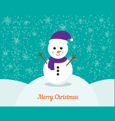 snowman cartoon character vector image