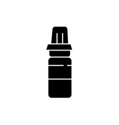 sport water bottle black glyph icon vector image