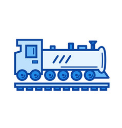steam locomotive line icon vector image