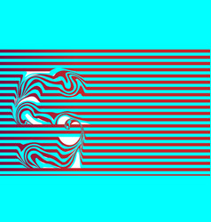 Striped abstract blue and red color background vector