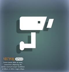 Surveillance Camera icon symbol on the blue-green vector image