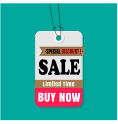 tag sale special discount sale limited time buy no vector image
