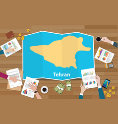 Tehran iran capital city region economy growth vector