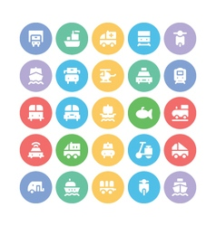 Transport Bold Icons 4 vector