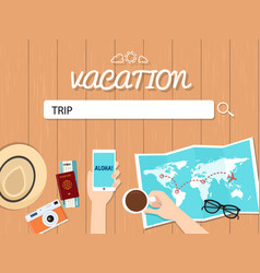 trip search graphic for vacation vector image