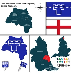 Tyne and Wear North East England vector