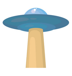 Ufo on white background vector