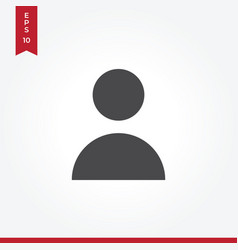 user icon in modern style for web site and mobile vector image
