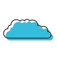 watercolor silhouette of cloud service icon vector image