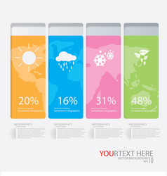 Weather infographic vector
