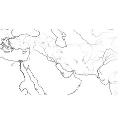 World map middle east region asia minor vector
