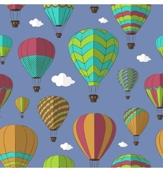 Air Balloons set pattern vector image
