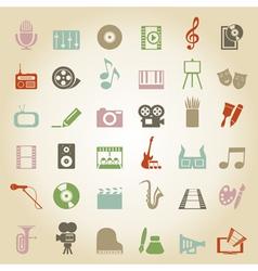 Art Music Media icon vector image