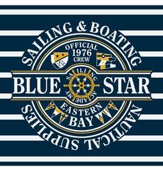 Blue Star sailing and boating vector image