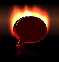 Conference balloon symbol sign over fire vector image vector image