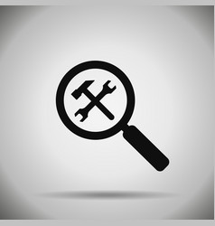 search repair and optimization icon vector image vector image