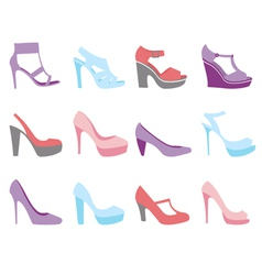 Summer shoes fashion vector image vector image