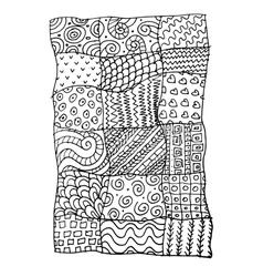 Patchwork carpet sketch for your design vector image vector image